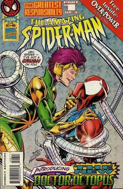 Doctor Octopus/Carolyn Trainer en la portada de The Amazing Spider-Man #406 (octubre de 1995). Imagen: Comic Vine