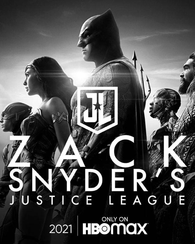 Póster del Snyder Cut de Justice League (2017). Imagen: HBO Max Instagram (@hbomax).