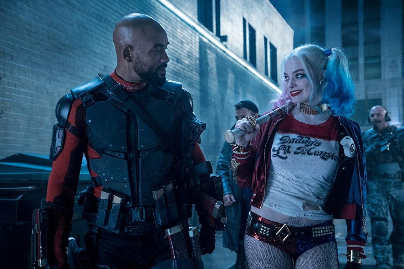 Deadshot (Will Smith) y Harley Quinn (Margot Robbie) en Suicide Squad (2016). Imagen: Clay Enos/Warner Bros. Pictures