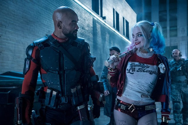 Deadshot (Will Smith) y Harley Quinn (Margot Robbie) en Suicide Squad (2016). Imagen: Clay Enos/Warner Bros. Pictures