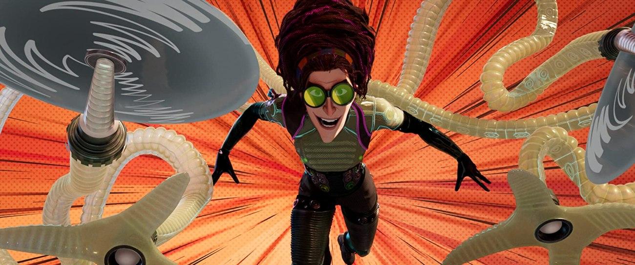 Doctor Octopus (voz de Kathryn Hahn) en Spider-Man: Into the Spider-Verse (2018). Imagen: IMDb.com