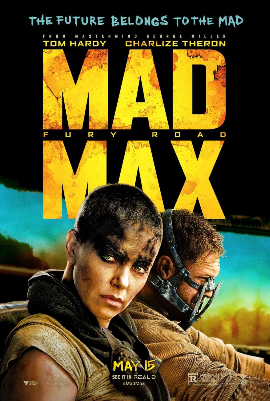 Imperator Furiosa (Charlize Theron) y Max Rockatansky (Tom Hardy) en un póster de Mad Max: Fury Road (2015). Imagen: impawards.com