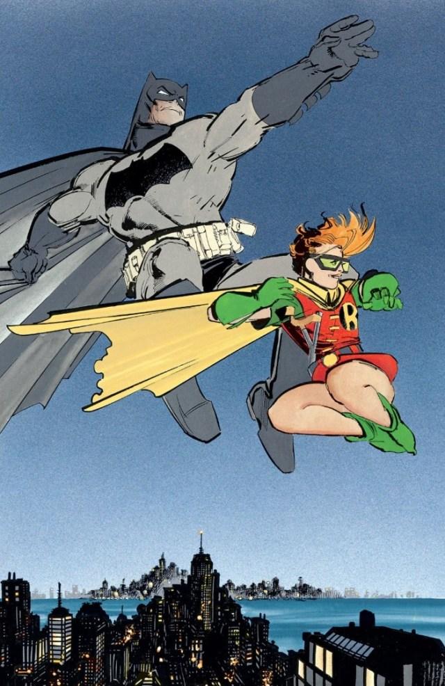 Batman y Robin (Carrie Kelley) en Batman: The Dark Knight Returns #3 (mayo de 1986). Arte por Frank Miller. Imagen: dccomics.com