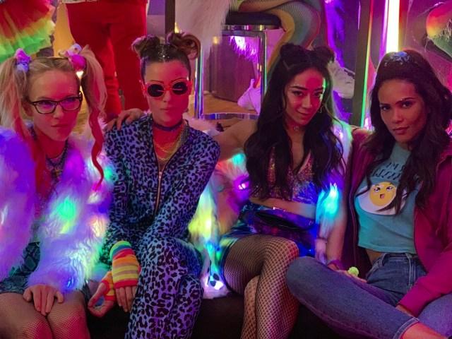 Rachael Harris, Lauren German, Aimee García y Lesley-Ann Brandt en un vistazo a la temporada 5 de Lucifer. Imagen: See What's Next Twitter (@seewhatsnext).