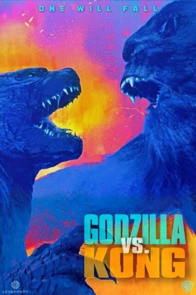 Póster promocional de Godzilla vs. Kong (2020). Imagen: Legendary Pictures/Warner Bros. Pictures