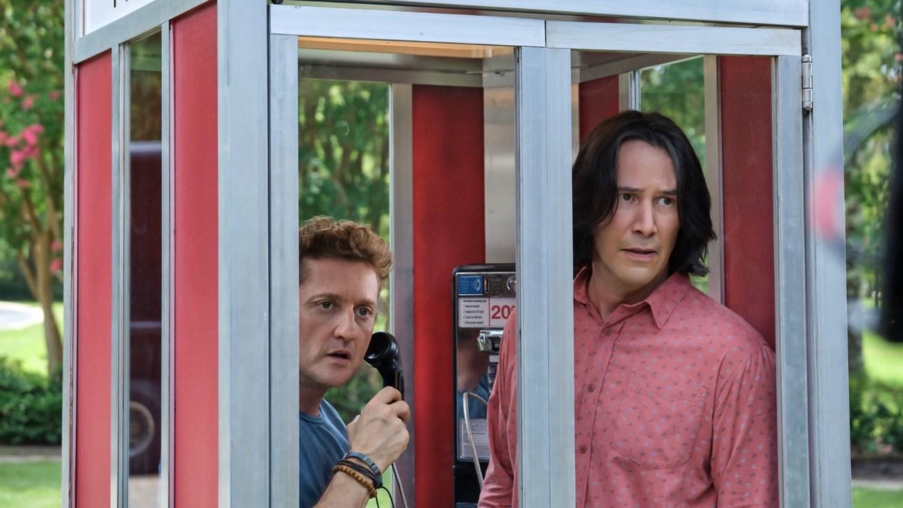 "Alex Winter como William ""Bill"" S. Preston Esquire y Keanu Reeves Ted ""Theodore"" Logan en Bill & Ted Face the Music (2020). Imagen: fanart.tv"