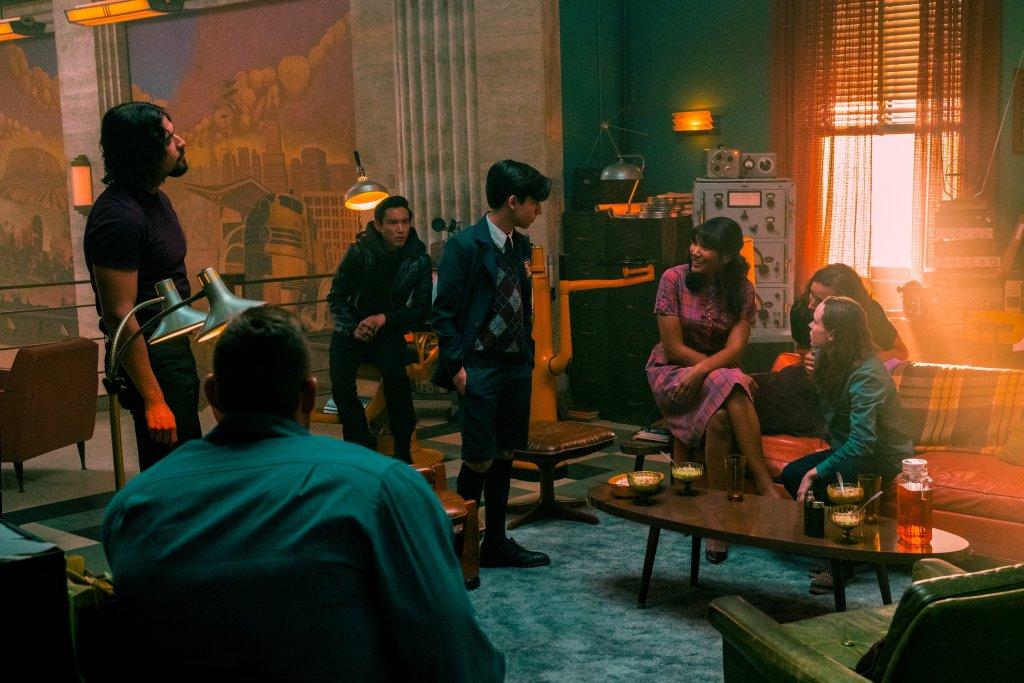 Una reunión de los Hargreeves en la temporada 2 de The Umbrella Academy. Imagen: Umbrella Academy Twitter (@UmbrellaAcad).