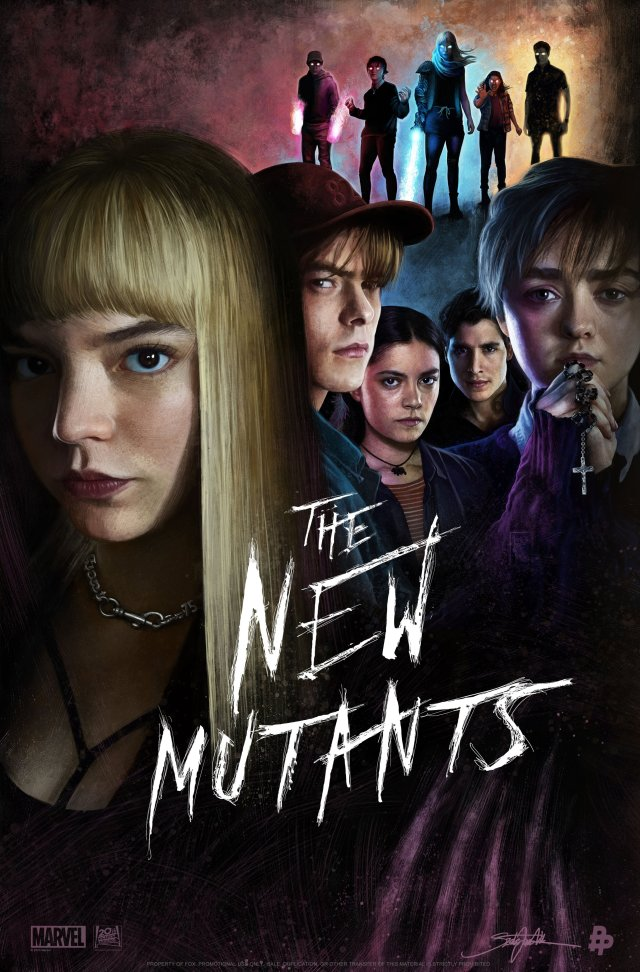 Póster de The New Mutants (2020). Imagen: New Mutants Twitter (@NewMutantsFilm).