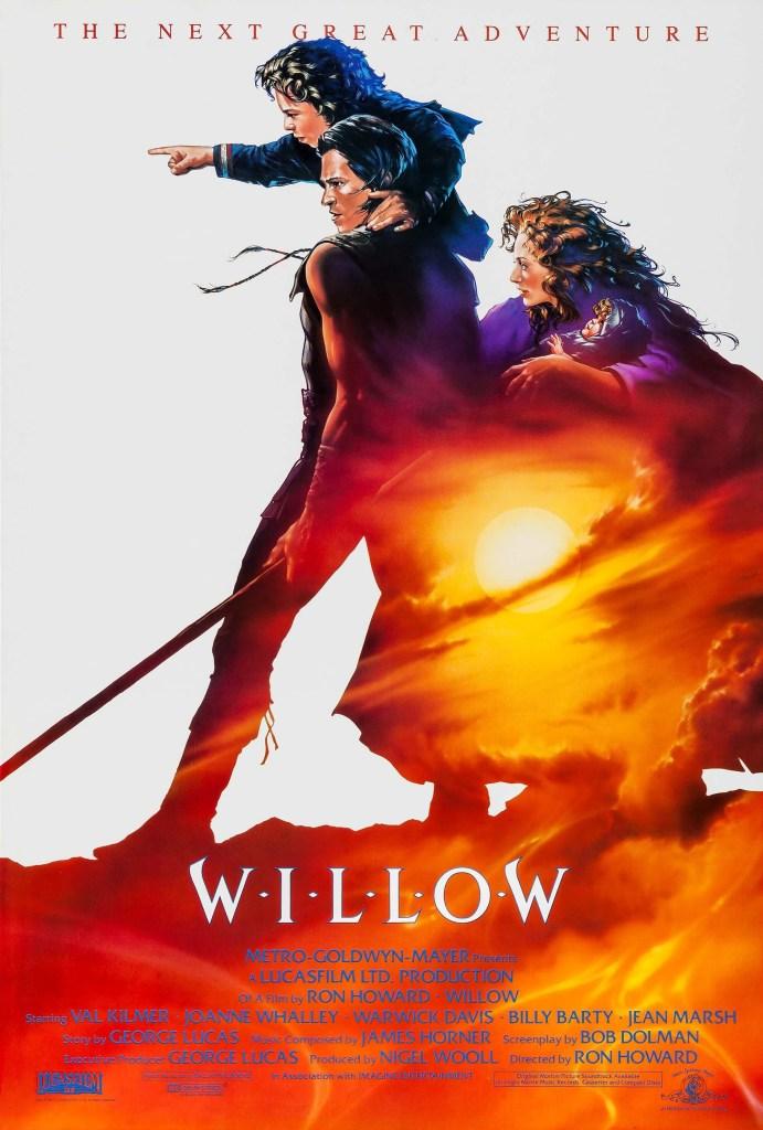 Póster de Willow (1988). Arte por John Alvin. Imagen: impawards.com