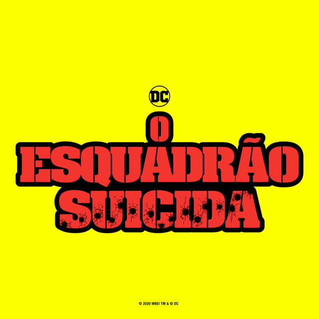 Logotipo en portugués de The Suicide Squad (2021). Imagen: James Gunn Twitter (@JamesGunn).