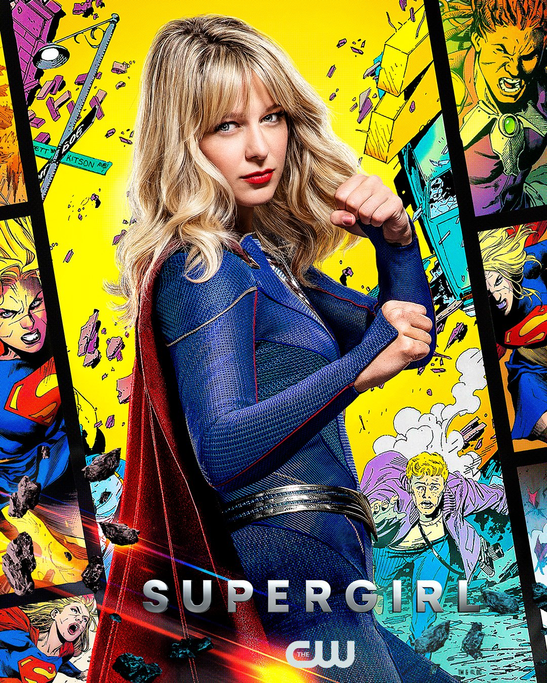 Supergirl (Melissa Benoist) en un póster de Supergirl. Imagen: Supergirl Twitter (@TheCWSupergirl).