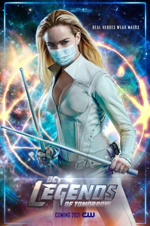 White Canary (Caity Lotz) en un póster de DC's Legends of Tomorrow. Imagen: impawards.com