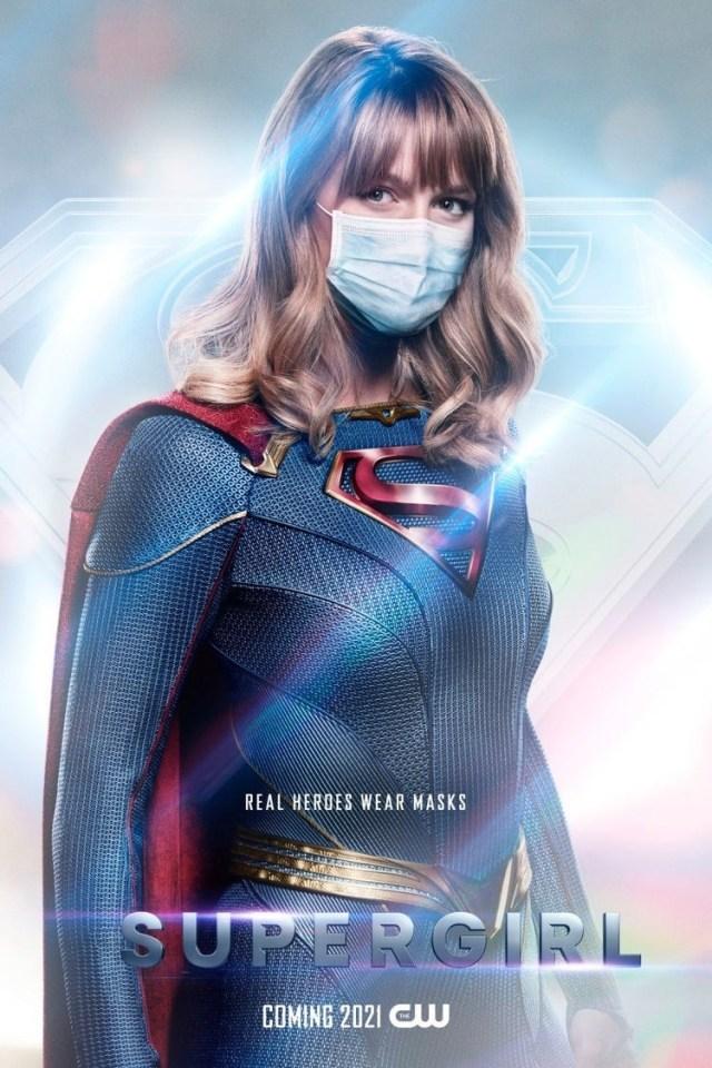 Supergirl (Melissa Benoist) en un póster de Supergirl. Imagen: impawards.com