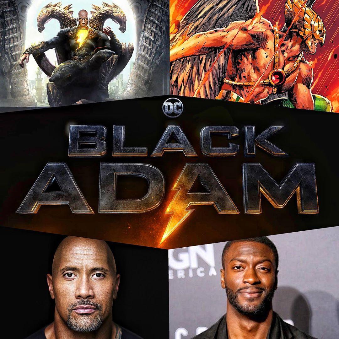Dwayne Johnson y Aldis Hodge serán Black Adam y Hawkman en Black Adam (2021). Imagen: Dwayne Johnson Instagram (@therock).