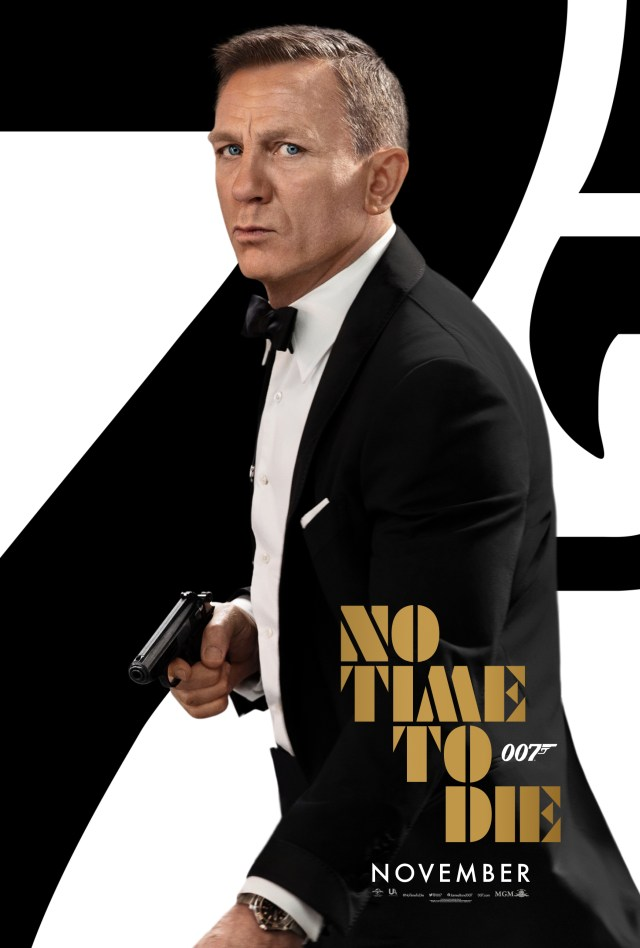 Póster de No Time to Die (2020). Imagen: James Bond Twitter (@007).