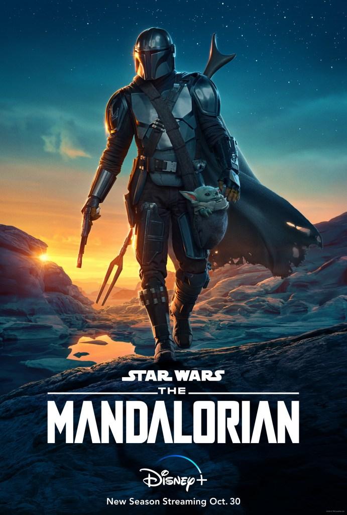Póster de la temporada 2 de The Mandalorian. Imagen: The Mandalorian Twitter (@themandalorian).