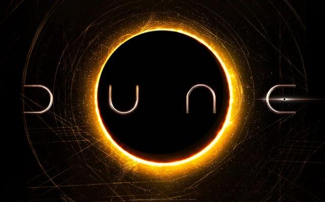 El logotipo de Dune (2020). Imagen: Warner Bros. Pictures/Legendary Pictures
