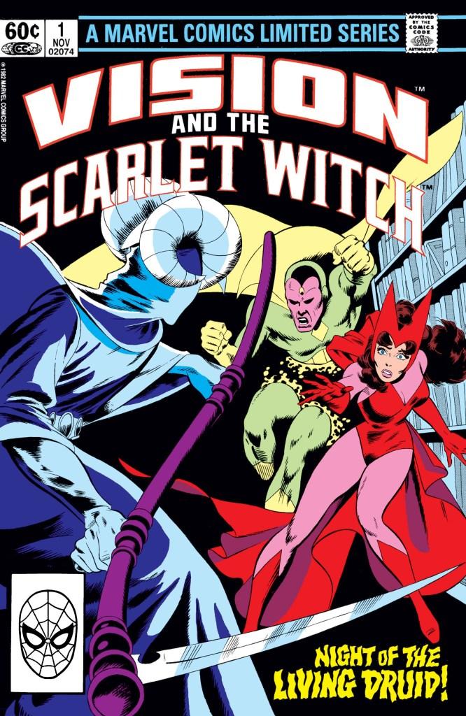 Portada de Vision and the Scarlet Witch #1 (noviembre de 1982). Imagen: Marvel.com
