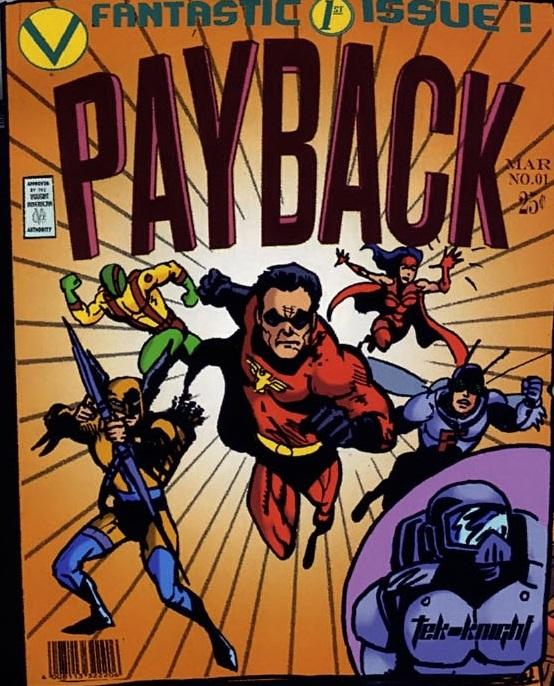 El primer número del cómic de Payback publicado por Vought-American en The Boys. Imagen: Comic Vine