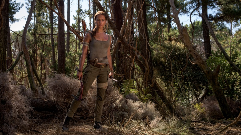 Lara Croft (Alicia Vikander) en Tomb Raider (2018). Imagen: Graham BartholomewWarner Bros. Pictures/Metro-Goldwyn-Mayer Pictures