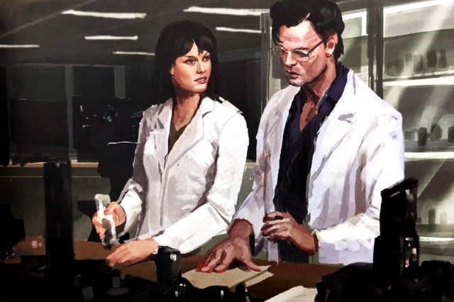 La Dra. Betty Ross (Liv Tyler) y el Dr. Bruce Banner (Mark Ruffalo) en arte conceptual de The Wakanda Files: A Technological Exploration of the Avengers and Beyond (2020). Imagen: the direct.com