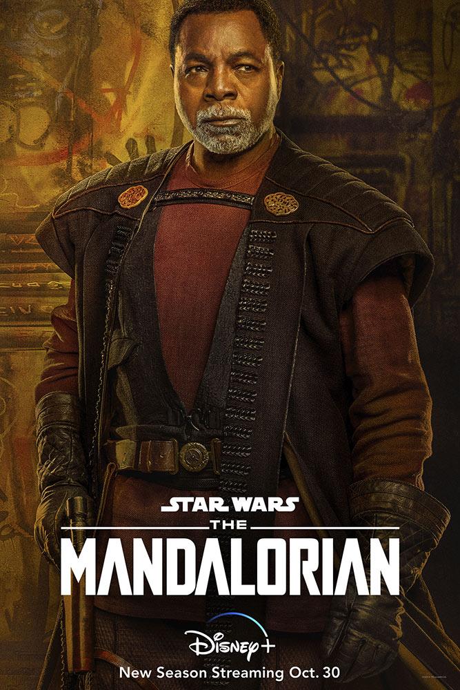 Greef Karga (Carl Weathers) en un póster de la temporada 2 de The Mandalorian. Imagen: StarWars.com