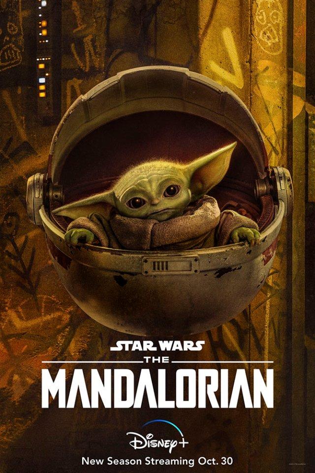 Baby Yoda (The Child) en un póster de la temporada 2 de The Mandalorian. Imagen: StarWars.com