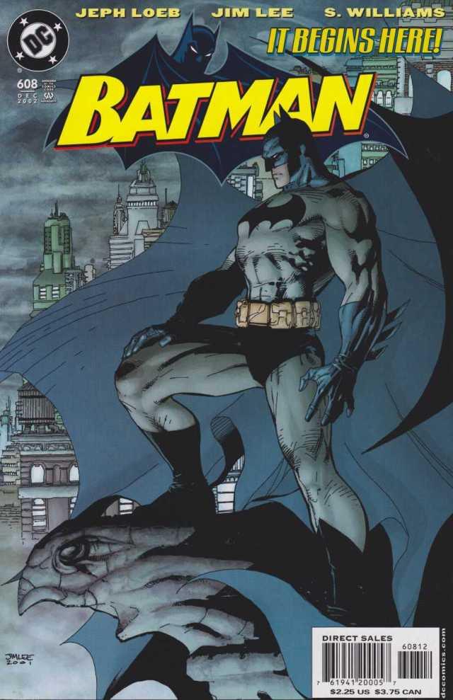 Portada de Batman #608 (diciembre de 2002). Arte por Jim Lee. Imagen: Comic Vine
