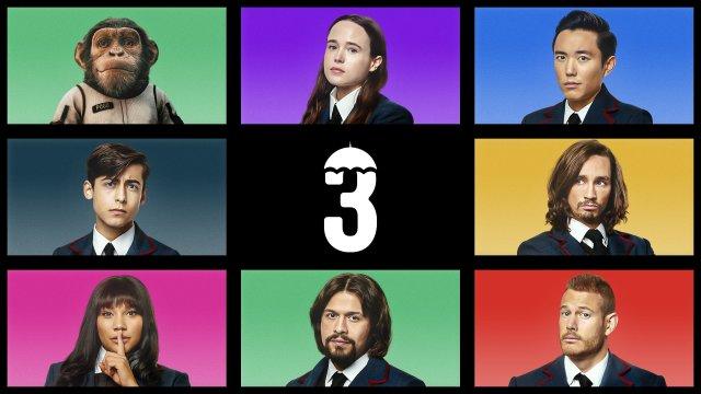 Íconos de The Umbrella Academy en Netflix. Imagen: NX On Netflix Twitter (@NXOnNetflix).