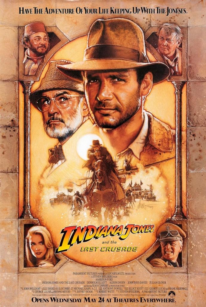 Póster de Indiana Jones and the Last Crusade (1989). Arte por Drew Struzan. Imagen: impawards.com