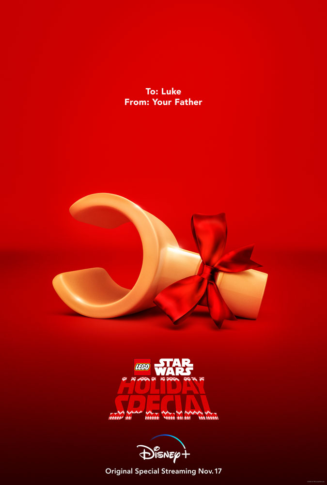 Póster de The LEGO Star Wars Holiday Special (2020). Imagen: StarWars.com