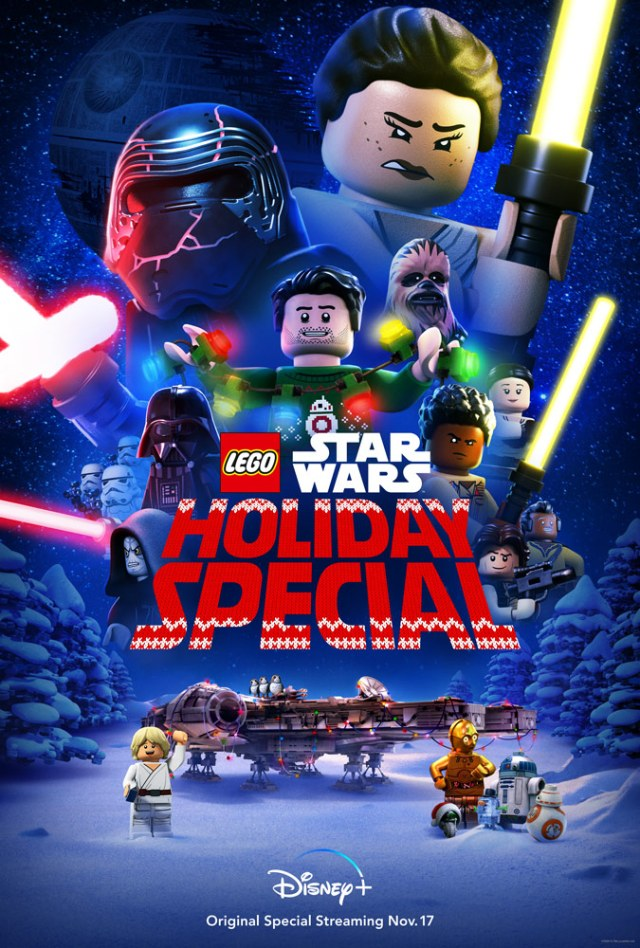 Póster de The LEGO Star Wars Holiday Special (2020). Imagen: StarWars.com