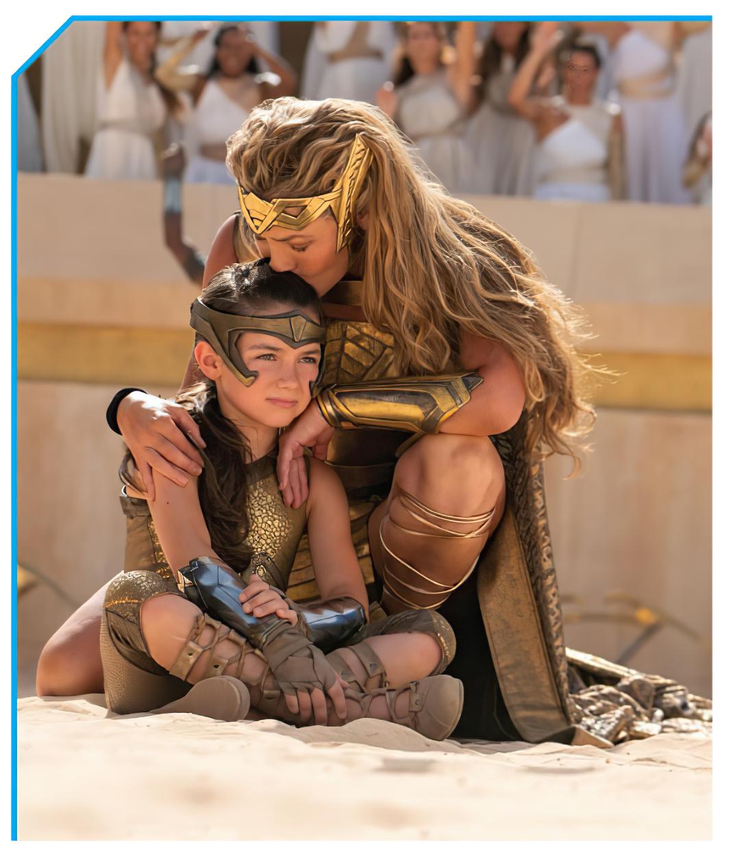 La Reina Hipólita (Connie Nielsen) y la joven Princesa Diana (Lilly Aspell) en Wonder Woman 1984 (2020). Imagen: Bleeding Cool