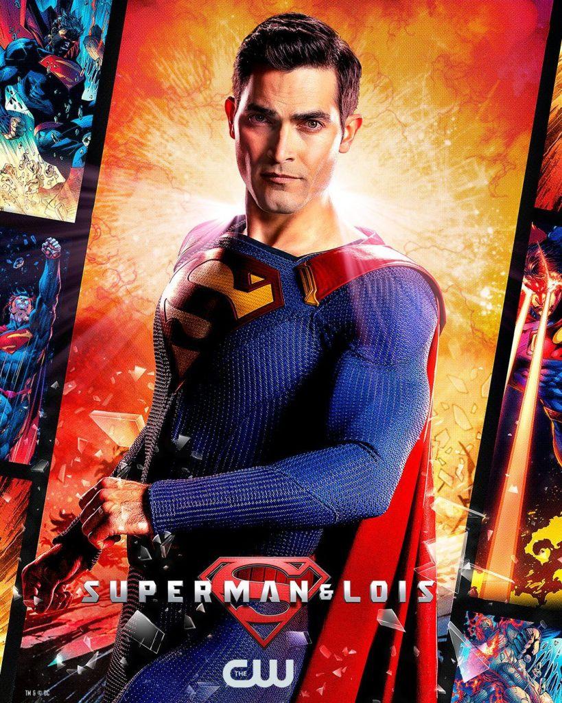 Superman (Tyler Hoechlin) en un póster de Superman & Lois. Imagen: pinterest.com