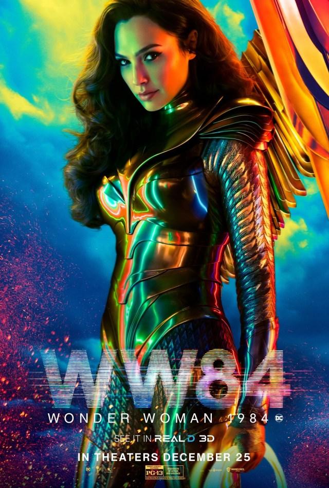 Wonder Woman (Gal Gadot) en un póster RealD 3D de Wonder Woman 1984 (2020). Imagen: impawards.com