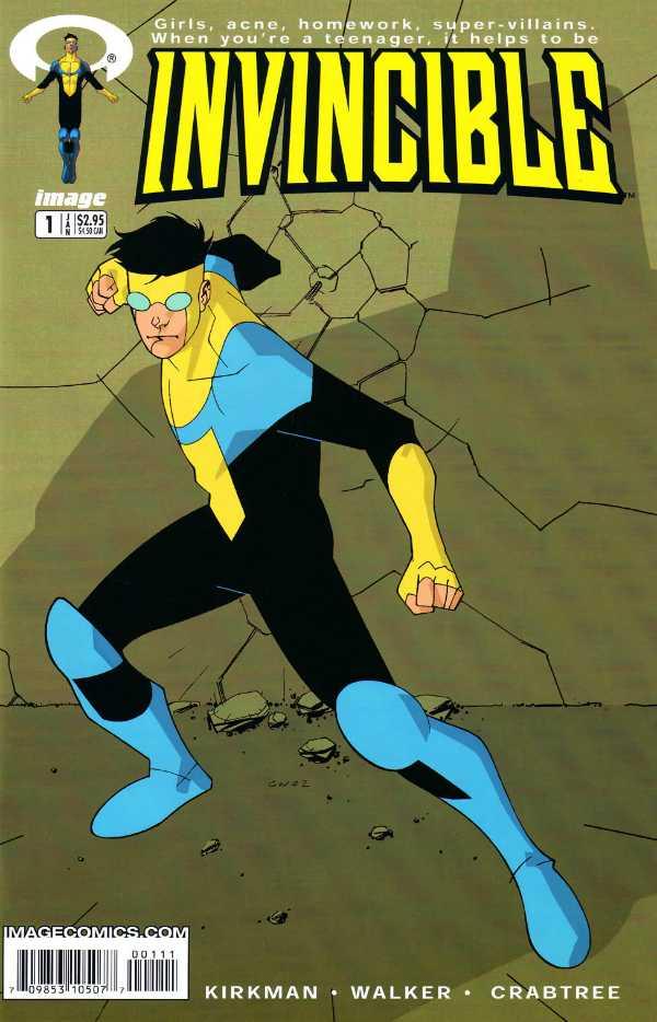 Portada de Invencible #1 (enero de 2003). Imagen: Comic Vine