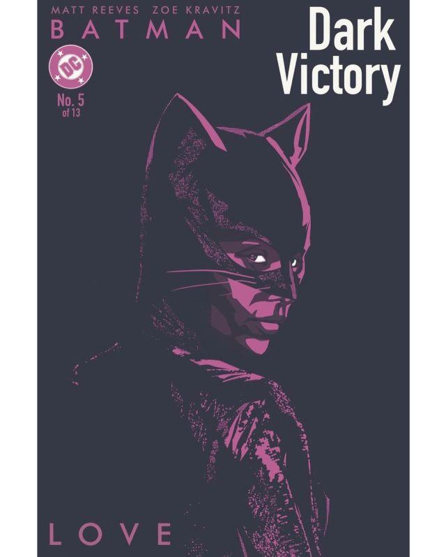 Catwoman (Zoë Kravitz) en fan art de The Batman (2022) por Dustin Lee Massey. Imagen: Dustin Lee Massey Instagram (@dustinleemassey).