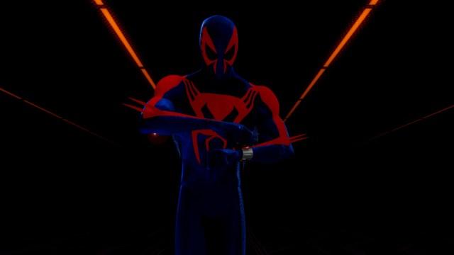 Spider-Man 2099 (voz de Óscar Isaac) en Spider-Man: Into the Spider-Verse (2018). Imagen: Spider-Man: Into The Spider-Verse Twitter (@SpiderVerse).