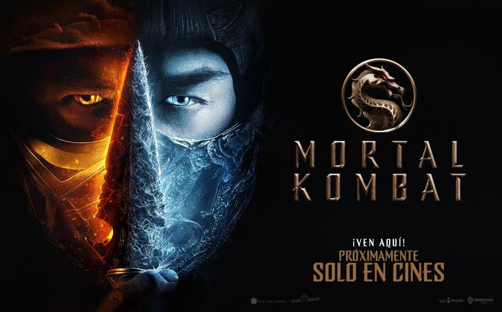 Póster en español de Mortal Kombat (2021). Imagen: Warner Bros. Pictures Latinoamérica Twitter (@WBPicturesLatam).