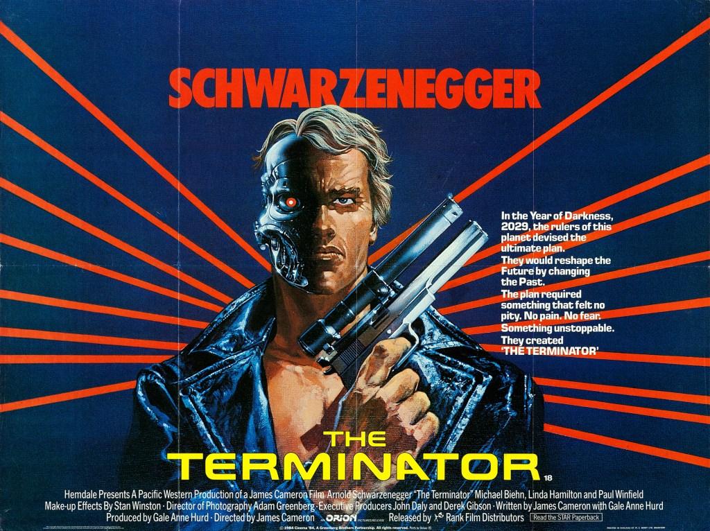 Póster de The Terminator (1984). Imagen: impawards.com