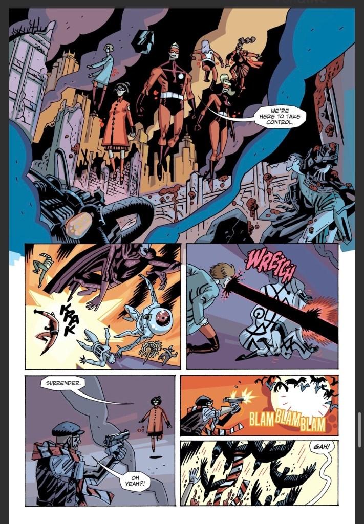 The Sparrows fueron introducidos en The Umbrella Academy: Hotel Oblivion (octubre de 2018-junio de 2019). Imagen: tehmoonofficial.tumblr.com