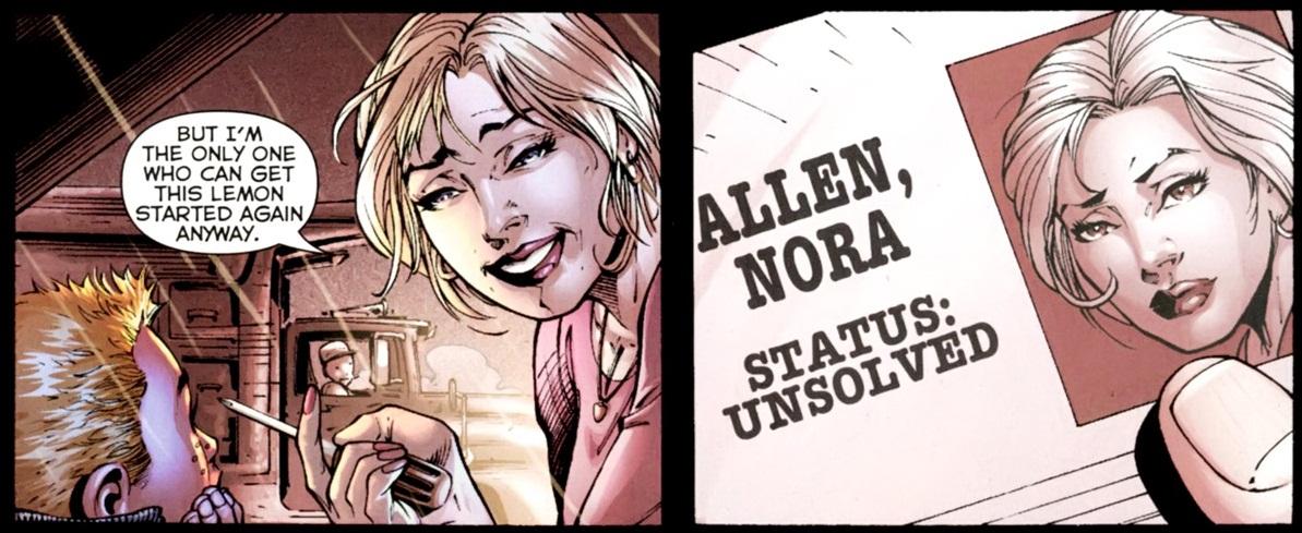 Nora Allen en la historia Flashpoint (julio-octubre de 2011). Imagen: Comic Vine