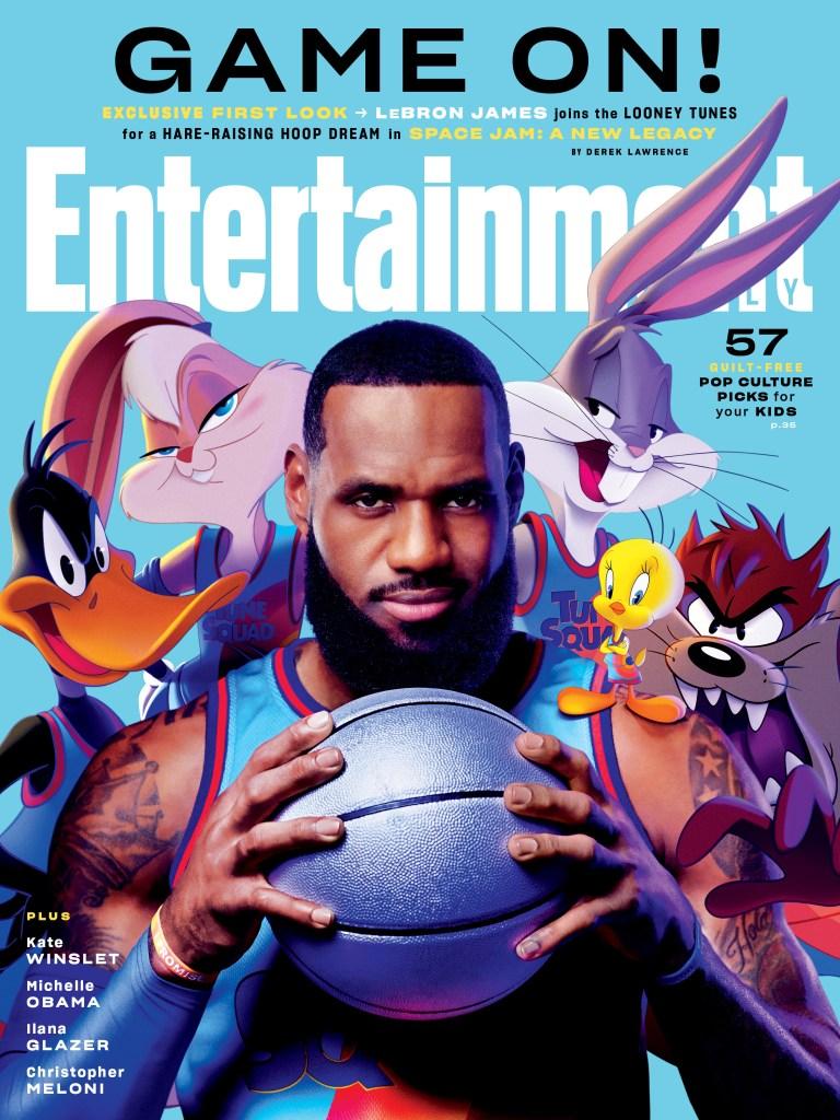 LeBron James y los Looney Tunes en la portada de Entertainment Weekly. Imagen: Entertainment Weekly Twitter (@EW).
