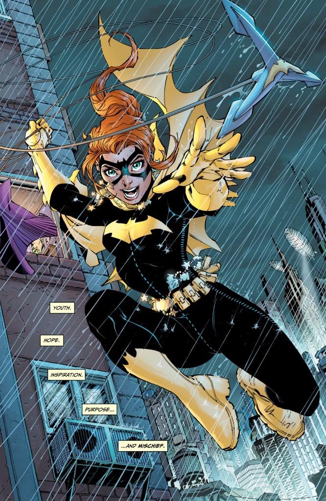 Batgirl/Barbara Gordon en All Star Batman & Robin, The Boy Wonder #6 (septiembre de 2007). Arte por Jim Lee, Scott Williams y Alex Sinclair. Imagen: zipcomic.com