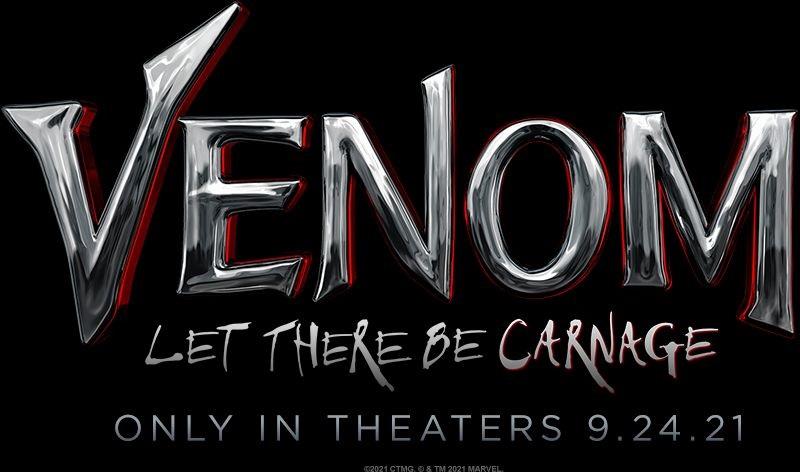 El logotipo y la fecha de estreno actualizada para Venom: Let There Be Carnage (2021). Imagen: Sony Pictures/Columbia Pictures/Marvel Entertainment