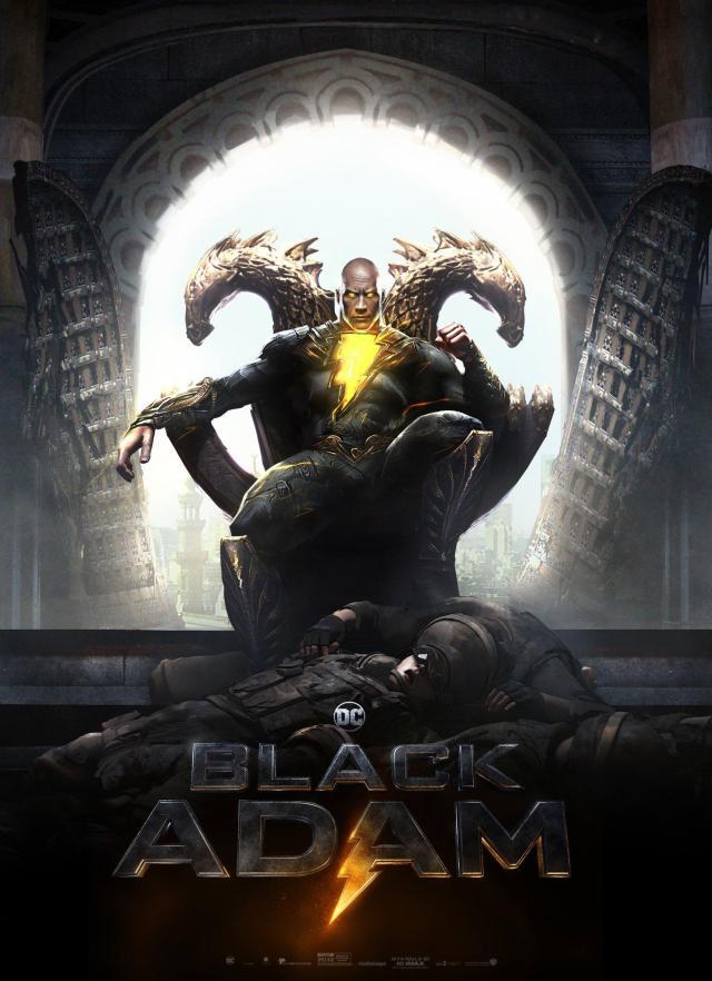Black Adam (Dwayne Johnson) en arte conceptual de Black Adam (2022) por Jim Lee y BossLogic. Imagen: DCcomics Reddit