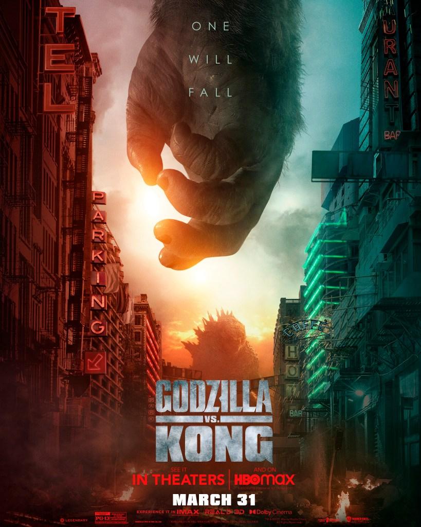 Godzilla en un póster de Godzilla vs. Kong (2021). Imagen: impawards.com