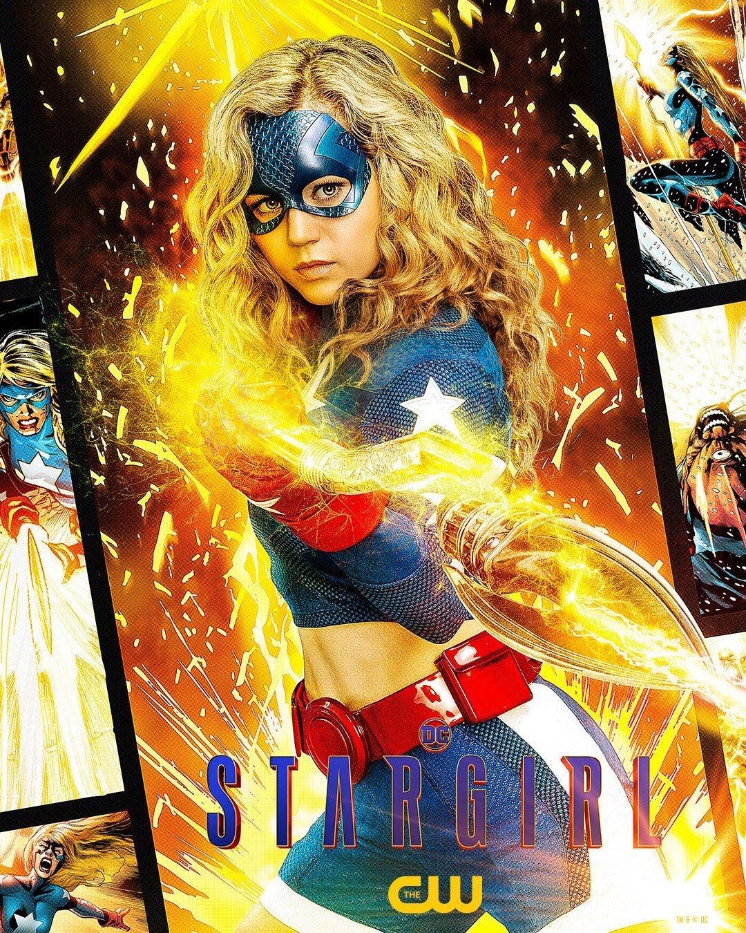 Courtney Whitmore/Stargirl (Brec Bassinger) en un póster promocional de la temporada 2 de Stargirl. Imagen: impawards.com
