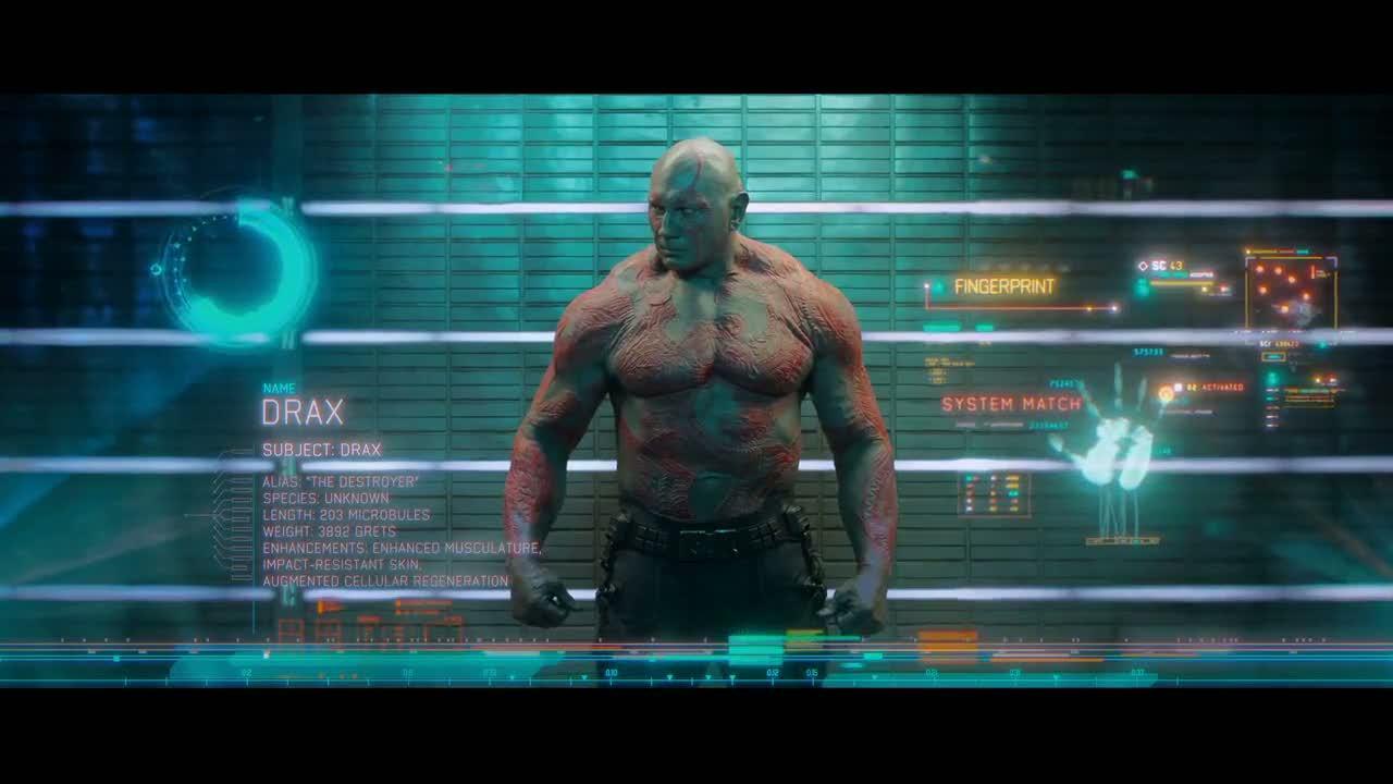 Dave Bautista como Drax the Destroyer en Guardians of the Galaxy (2014). Imagen: quotesgram.com