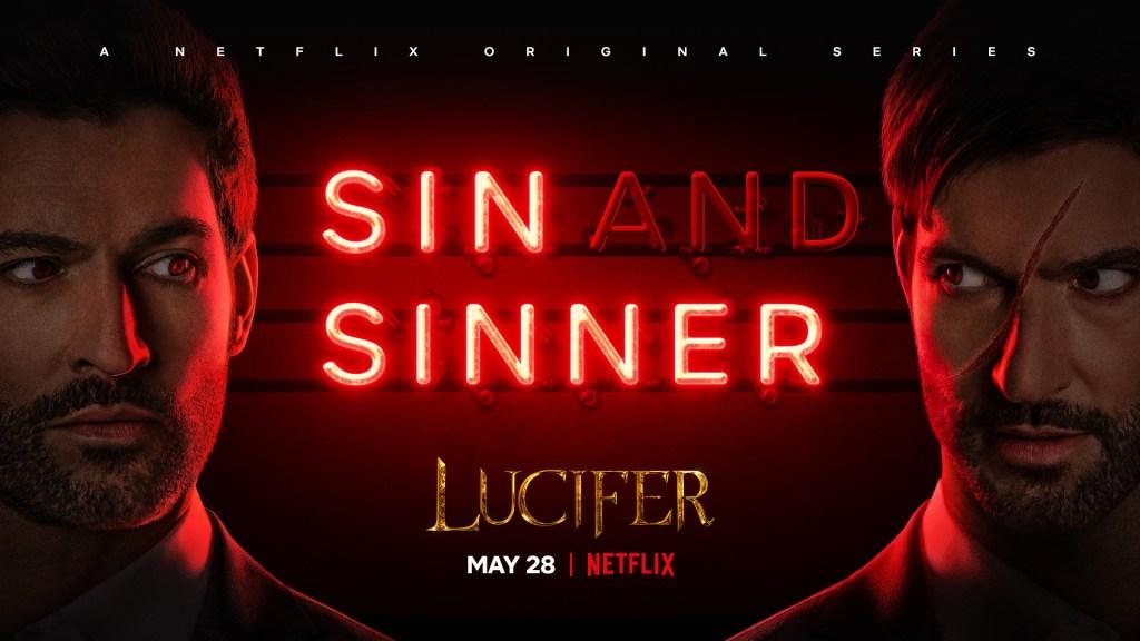 Póster de la temporada 5 (Parte 2) o 5B de Lucifer. Imagen: Netflix Twitter (@LuciferNetflix).